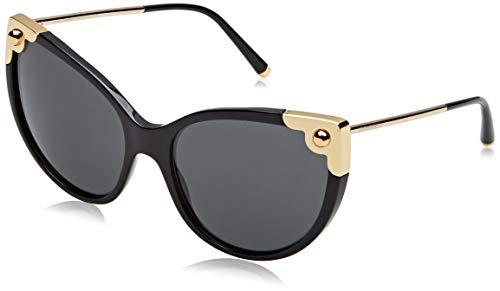 Dolce & Gabbana Women's Oversized Cat Eye Sunglasses, Black/Grey, One ()