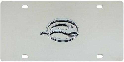 Chevy Impala Chrome Logo On Polished Chrome License Plate