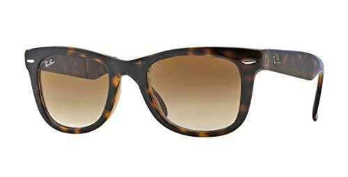 9dcc153393 Ray-Ban RB4105 Folding Wayfarer Unisex Sunglasses (Light Havana  Frame Crystal Brown Gradient