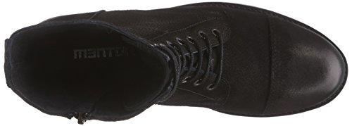 Mentor Mentor Lace Boot - botas de cuero mujer negro - Schwarz (Black Washed Nubuck)