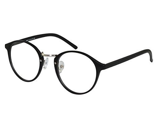 EyeBuyExpress Glasses Men Women RX Unique Horn Rim Antique Style Preppy Circular - Eyeglasses Preppy