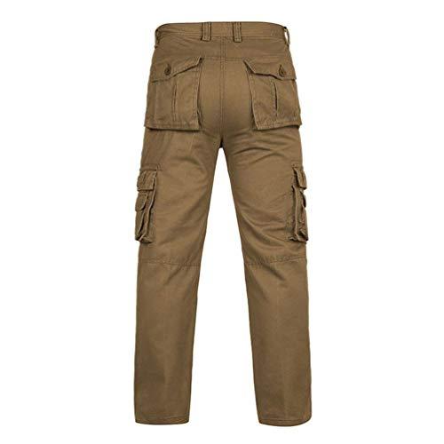 Trekking Coton Kaki Mode Homme Avec Vêtements Cargo Casual Poche Pantalon Sport Saoye zxwv7dqP7