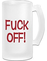 Fuck Off Frosted Glass Pub Big Beer Stein - 500ML