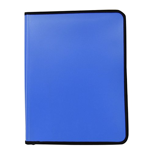 Padfolio Expanding File Folder Zippered Closure Writing Notepad Holder Pocket Document Folder Office Stationary Supplies