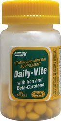 Daily-Vite w/ Iron & Beta Carotene 100 Tabs by Rugby