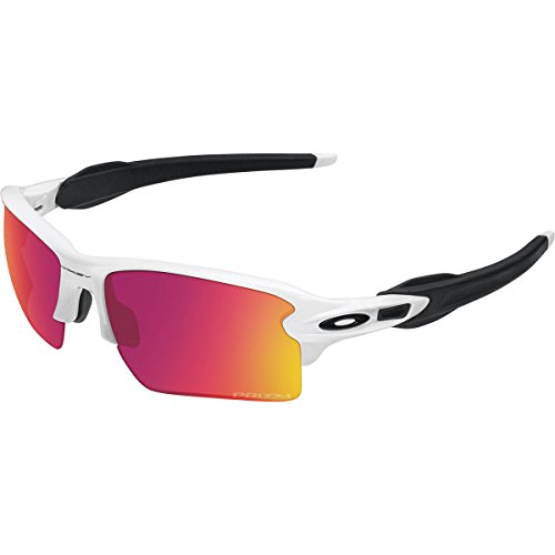 Oakley Men's Flak 2.0 XL OO9188-03 Rectangular Sunglasses, Polished White, 59 - Oakley Deals On Sunglasses