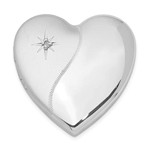 925 Sterling Silver Diamond Polish 4 Picture Family Heart Loc Necklace Pendant Charm Locket Fine Jewelry For Women Gift Set from ICE CARATS