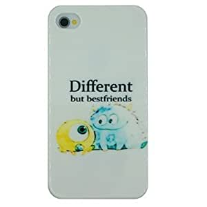 DUR Monsters Pattern PC Hard Back Cover Case for iPhone 4/4S