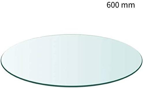 Wakects Cristal Redondo Tablero de Mesa Templado, 8 mm de Grosor ...