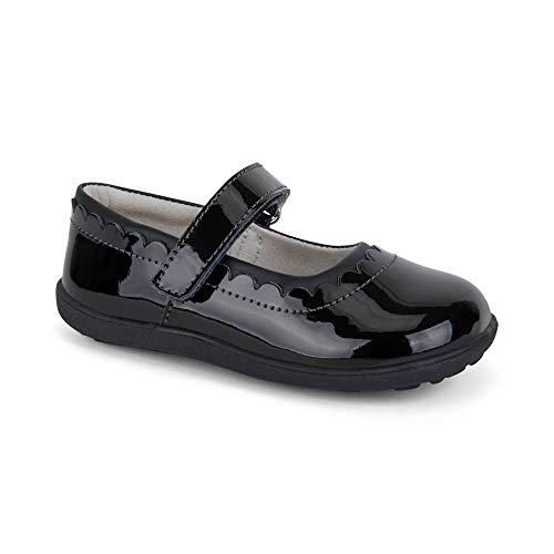 - See Kai Run Girl's Jane II Flat, Black Patent, 7 M US Toddler