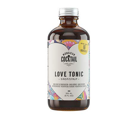 M. Cocktail Love Tonic Craft Cocktail Syrup, 8 oz Bottle. Makes 16 Cocktails, 100% Natural Ingredients, Clean Label. Make Each Cocktail A Success Now. Best for Gin Tonic, Tequila Tonic