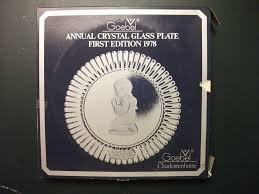 Goebel 1978 First Edition Annual Crystal Glass - Crystal 1978 Glass