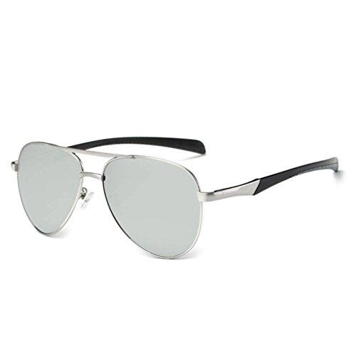 conducción 2 de de de gafas Protección polarizadas lentes sol Visual de TAC Al Coolsir hombres las HD UV400 cuadros Mg HfxZzw