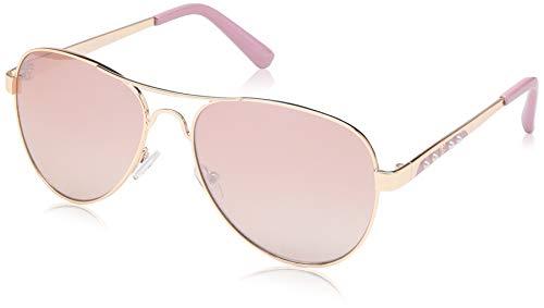 Rocawear Women's R3283 Rgdrs Non-Polarized Iridium Aviator Sunglasses, Gold Rose, 60 mm