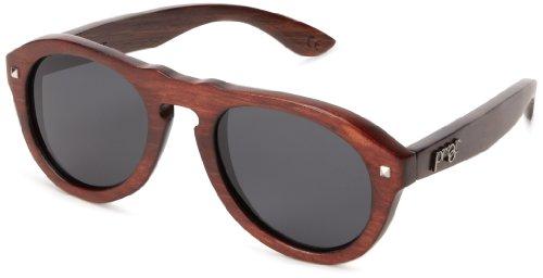 Proof Prospector Polarized Oval Sunglasses,Mahogany & Grey,47 - Sunglasses Mahogany Womens