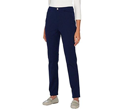 Liz Claiborne NY Bi-Stretch Ankle Pants A267335, Navy, 10