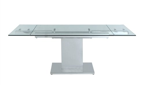 Cheap World Mod DT1233 Modern Slim Extendable Dining Table