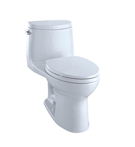 TOTO MS604114CEFG#01 Ultramax II Het Double Cyclone Elongated One Piece Toilet with Sanagloss, Cotton White