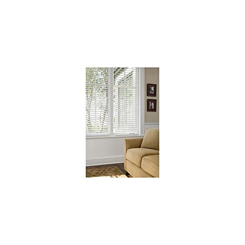 "Better Homes and Gardens 2""; Faux Wood Blinds, White, 52"" x 64"""