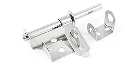 "Gate Stainless Steel Safety Lock Padlock Latch Barrel Bolt Hasp Stapler 6.7/"""