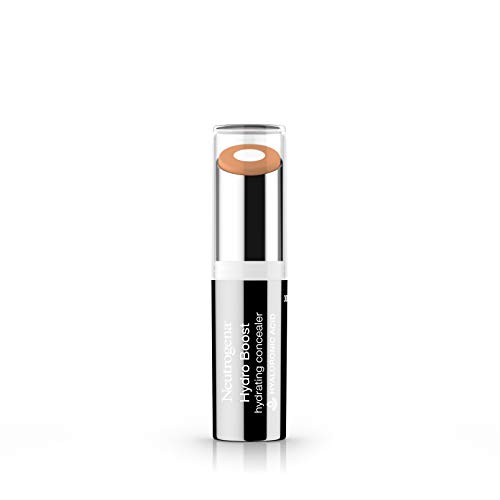 Neutrogena Hydro Boost Hydrating Concealer Stick for Dry Skin, Oil-Free, Lightweight, Non-Greasy and Non-Comedogenic Cover-Up Makeup with Hyaluronic Acid, 30 Light/Medium, 0.12 Oz