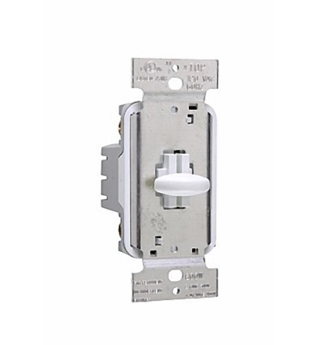 (Pass & Seymour White Short Slide Dimmer Switch 1000W Single Pole SS1000WV)