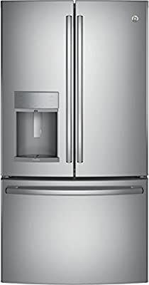 "GE Profile PYE22KSKSS 36"" Energy Star Qualified Counter-Depth French-door Refrigerator with 22.2 Cu. Ft. Capacity, in Stainless steel"