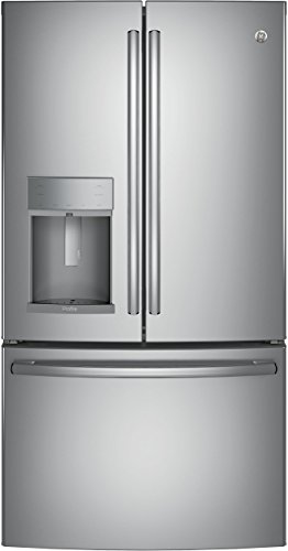 GE Profile PYE22KSKSS 36' Energy Star Qualified Counter-Depth French-door Refrigerator with 22.2 Cu. Ft. Capacity, in Stainless steel