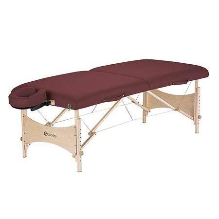 EARTHLITE Portable Massage Table HARMONY DX - Eco-Friendly Design, Hard Maple, Superior Comfort, Deluxe Adjustable Face Cradle, Heavy-Duty Carry Case (30