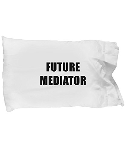 Hogue WS LLC Future Mediator Standard Size White Pillow Case - Profession, Worker, Dream Job End Conflict