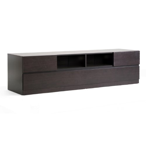 Baxton Studio Lovato Modern TV Stand, Dark Brown Contemporary Modern Tv Stand