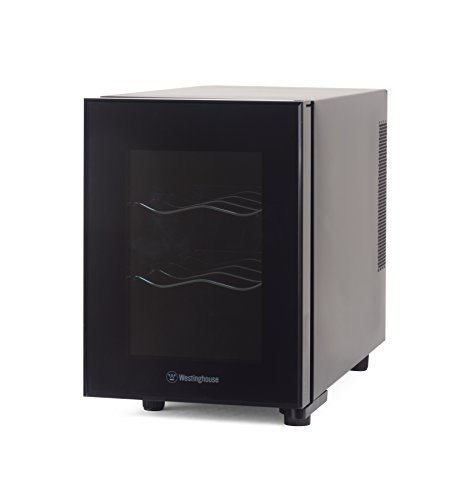 Westinghouse WWT060MB Thermal Electric 6 Bottle Wine Cellar, Black by Westinghouse