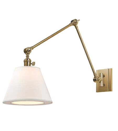 Hudson Valley Lighting 6234-AGB One Light Swing Arm Wall Sconce from The Hillsdale Collection, Aged Brass ()