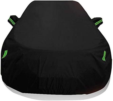 レンジローバープラスベルベットカーカバー保護カバー自動カバーオールウェザー保護カバーSnowproof防雨凍結防止用断熱 車のステッカーとの互換性 (Color : Black)