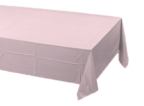 Pink Paper Tablecloths - Creative Converting Paper Banquet Table Cover, Classic Pink