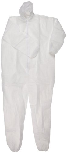 Magid EconoWear Lite N Kool Plus Polypropylene Coverall with Hood, Disposable, Elastic Cuff, White, 3X-Large (Case of 25) by Magid Glove & Safety (Image #1)