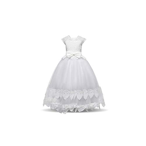Girl Costume White Flower for Wedding Tulle Lace
