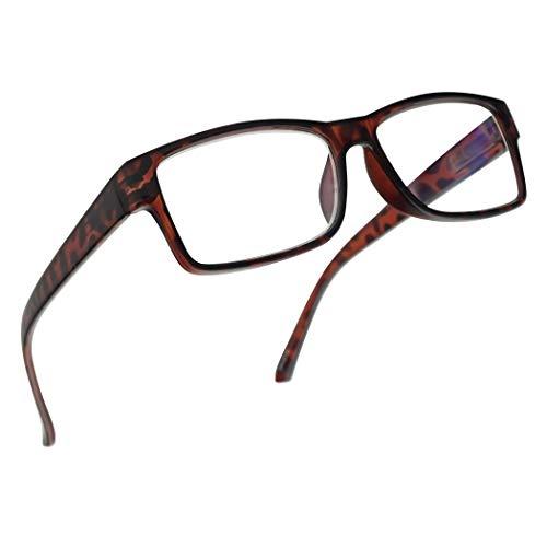 (Rectangular 3 in 1 Prescription Reading Glasses Spring Hinge Classic Frame Progressive Magnification Strength Readers (Tortoise Frame, 1.50))