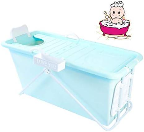 折りたたみバスタブ GYF 折り畳み式バスタブ ポータブル大人用バスタブ プラスチックカバーホーム全身 子供用入浴バケツ 厚くなった大人の浴槽 ベビーシャワー用折りたたみバスタブ 110x59x52cm (Color : Blue)