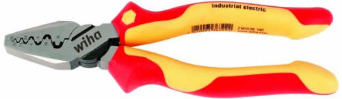(Wiha 32945 7-Inch Insulated Industrial Crimping Pliers)