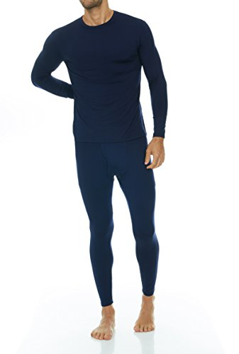 Underwear Patagonia Thermal - Thermajohn Men's Ultra Soft Thermal Underwear Long Johns Set with Fleece Lined (X-Small, Navy)
