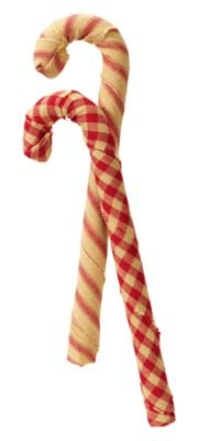 Decorative Candy Cane, Fabric Wrapped Bag of (Primitive Christmas)