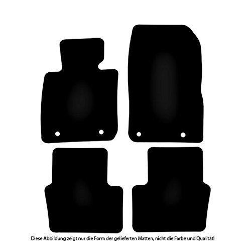 B/är-AfC MA09992 Limited Edition Auto Fu/ßmatten Nadelvlies Schwarz Stick Logo Rot Passgenau f/ür Modell Siehe Details Set 4-teilig Rand Kettelung Rot