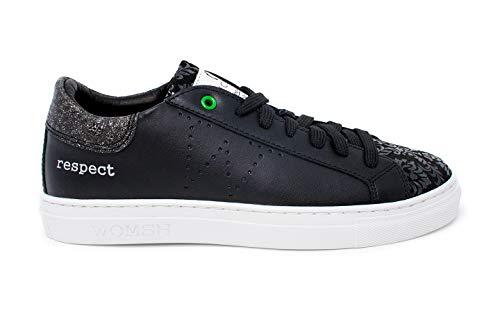 Snik 2017 Nero Womsh Flower Black Sneaker argento xaq0xd61w