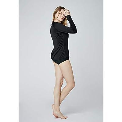 TSLA Women's UPF 50+ Crewneck Swimshirt Regular-Fit Long Sleeve Rashguard: Sports & Outdoors
