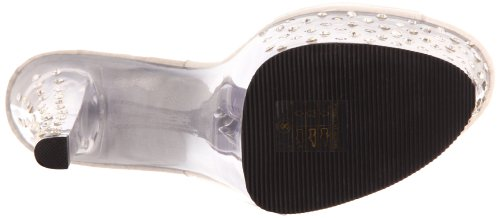 Pleaser Mujeres Stardust-701 Slipper Clear Polyvinyl Chloride