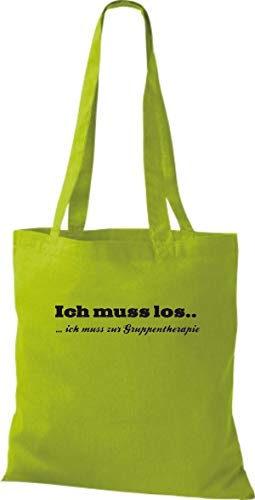 Thérapie Shirtstown Inscription Pour Tissu Je Couleurs Dois Allemand Plusieurs Pochette En Kiwi Groupe Kultiger Vert Los vAvrq