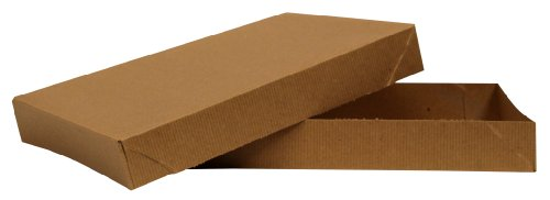 - Premier Packaging AMZ-104110 10 Count Exceptional Apparel Decorative Gift Box, 11.5 by 8.5 by 1-5/8-Inch, Kraft