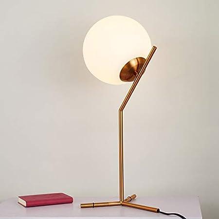 CBCJU Lámpara de Mesa LED posmoderna Lámpara de Mesa de Cristal de ...