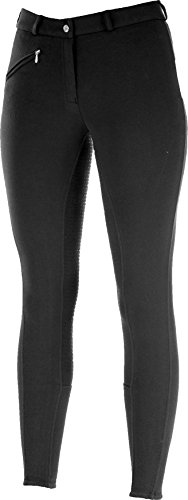 - Horze Ladies Active Silicone Grip Full Seat Breeches - Black - 24